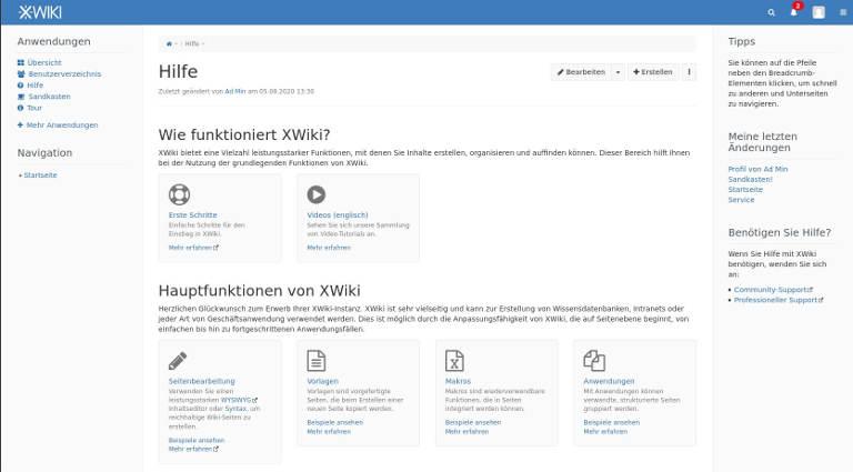 XWiki-standart-Hilfe-de